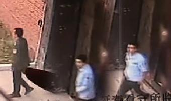 哈市杀警逃犯越狱视频曝光 遭鸣枪飞跑