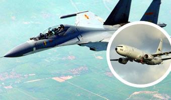 美侦察机被我苏-27拦截 双方仅距9米